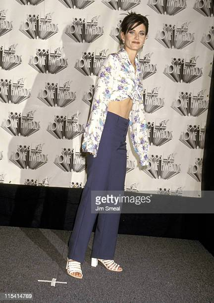 Courteney Cox during The 1995 MTV Movie Awards at Warner Bros Studios in Burbank California United States