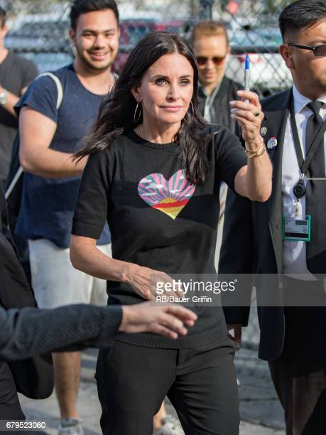 Courteney Cox is seen at 'Jimmy Kimmel Live' on May 05 2017 in Los Angeles California