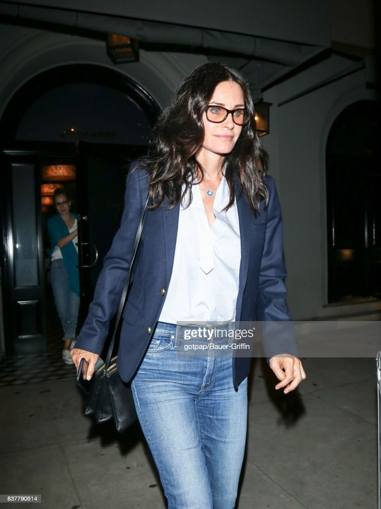 Courteney Cox is seen on August 22, 2017 in Los Angeles, California.