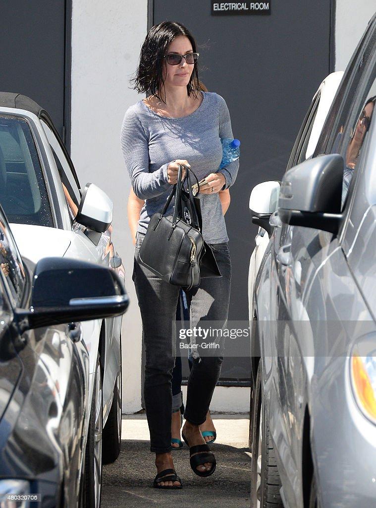 Courteney Cox is seen on July 10, 2015 in Los Angeles, California.