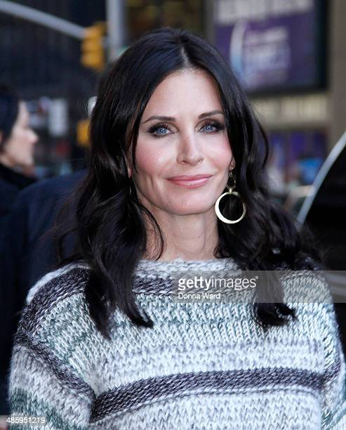 Courteney Cox leaves the 'Late Show with David Letterman' at Ed Sullivan Theater on April 21 2014 in New York City