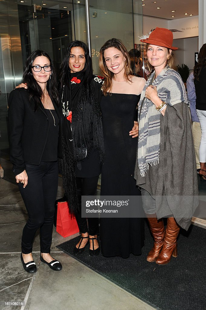 Courteney Cox, Maryam Malakpour, Josie Maran and Leslie Nicks attend Director's Circle Celebrates Wear LACMA, Sponsored By NET-A-PORTER And W at LACMA on April 24, 2013 in Los Angeles, California.