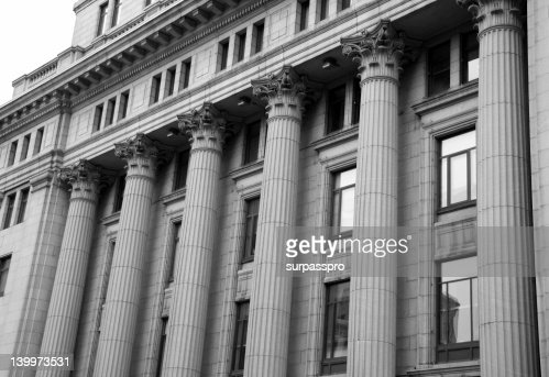 Courthouse Pillars : Stock Photo
