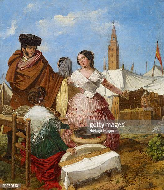 Courting at a RingShaped Pastry Stall at the Seville Fair Found in the collection of Museo Carmen Thyssen Málaga