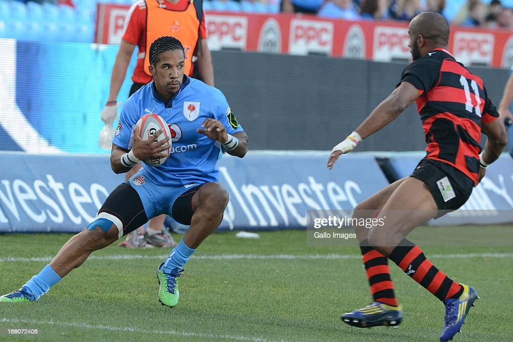 Courtnall Skosan of Blue Bulls during the Vodacom Cup Quarter Final match between Vodacom Blue Bulls and Eastern Province Kings at Loftus Versveld on...