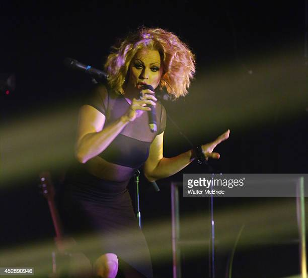 Courtnet Act performs at 'Broadway The Hardway' Live at 42 West on July 28 2014 in New York City