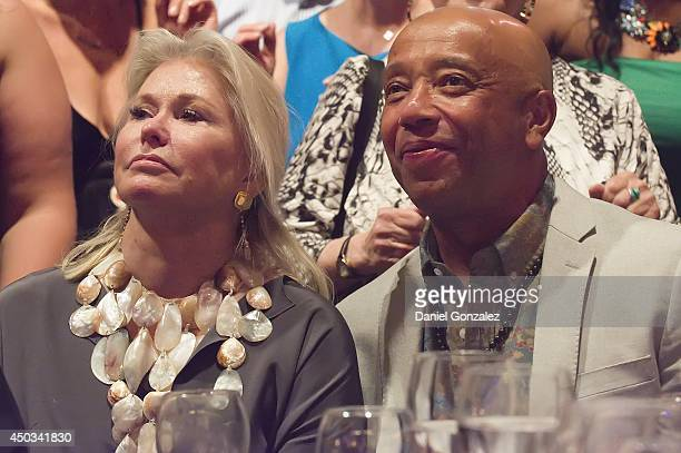 Courtnet Ross and Russell Simmons attend the 11th Annual Live Club Starlight benefit at Ross Upper School on June 7 2014 in East Hampton New York