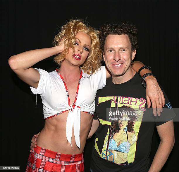 Courtney Act and Jacob Kangfelder attend 'Broadway The Hardway' Live at 42 West on July 28 2014 in New York City