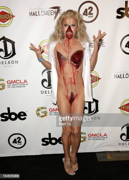 Courtney Act attends Fred Jason's annual 'Halloweenie' charity event benefiting Alive Music Project Gay Men's Chorus of Los Angeles at The Lot on...