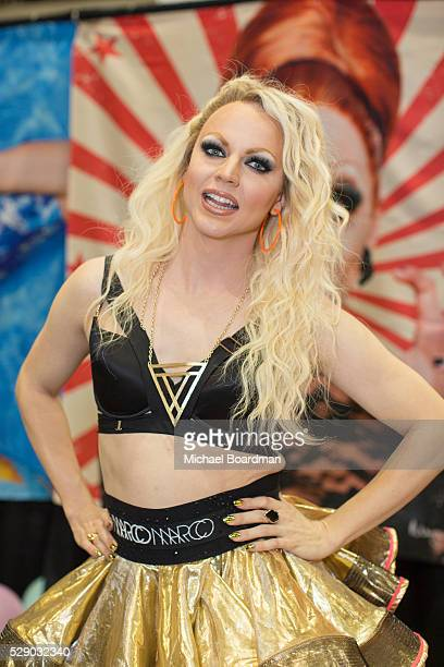 Courtney Act attends the 2016 RuPaul's DragCon at Los Angeles Convention Center on May 07 2016 in Los Angeles California