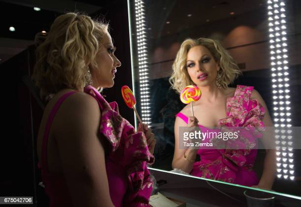 Courtney Act attends the 3rd Annual RuPaul's DragCon at Los Angeles Convention Center on April 29 2017 in Los Angeles California