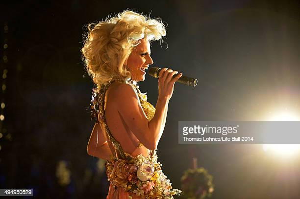 Courtney Act attends the Life Ball 2014 After Show Party at City Hall on May 31 2014 in Vienna Austria