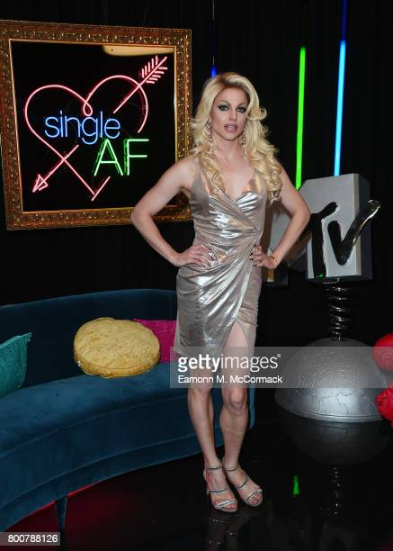 Courtney Act attends the photocall of MTV's new show 'Single AF' at MTV London on June 25 2017 in London England