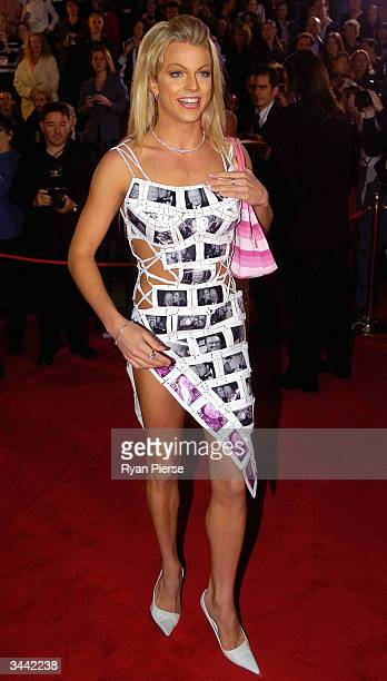 Courtney Act from Australian Idol attends the 46th Annual TV Week Logie Awards at the Crown Entertainment Complex April 18 2004 in Melbourne Australia