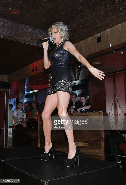 Courtney Act performs during the private viewing and launch party for 'Why Drag' at the Out Hotel on May 26 2014 in New York City