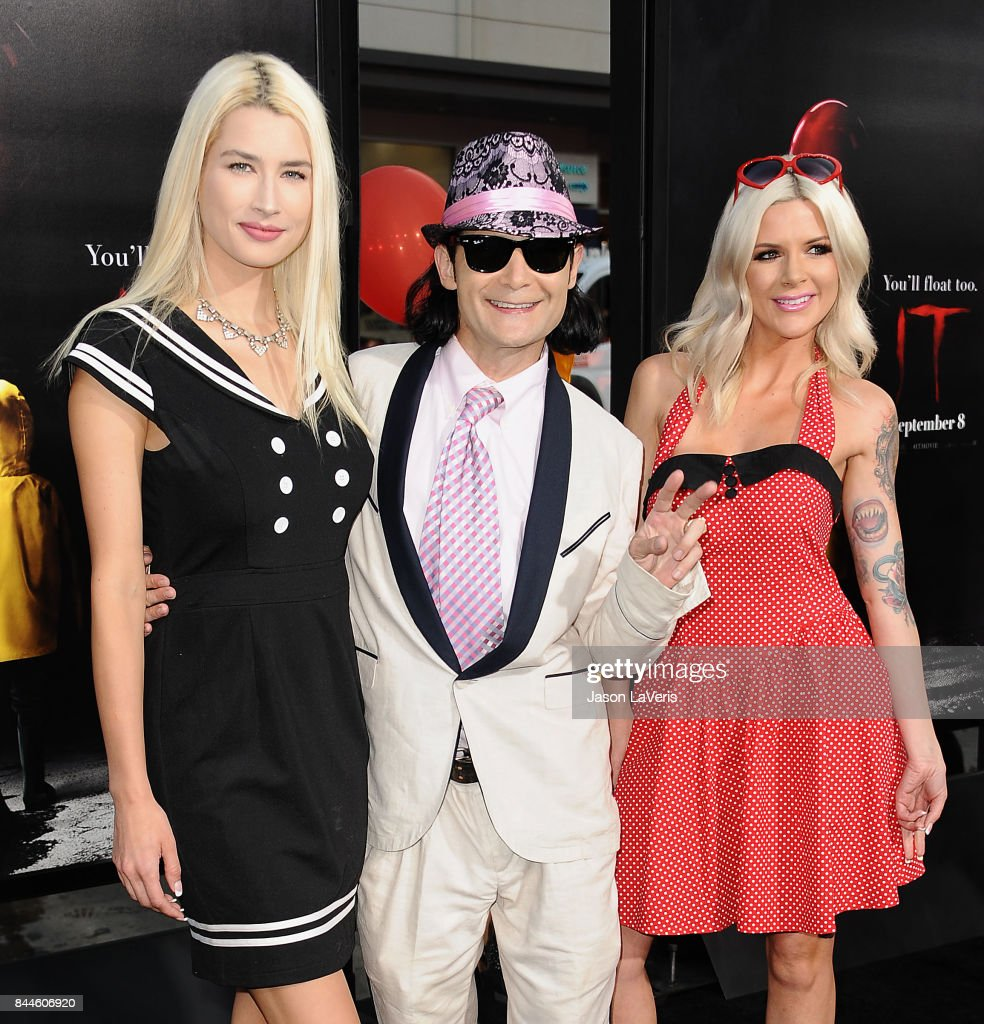 Courtney Anne Feldman and Corey Feldman attend the premiere of 'It' at TCL Chinese Theatre on September 5, 2017 in Hollywood, California.