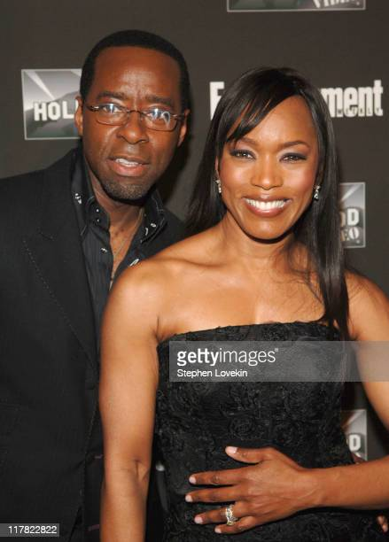 Courtney B Vance and Angela Bassett at Entertainment Weekly 13th Annual Academy Awards Viewing Party at Elaine's