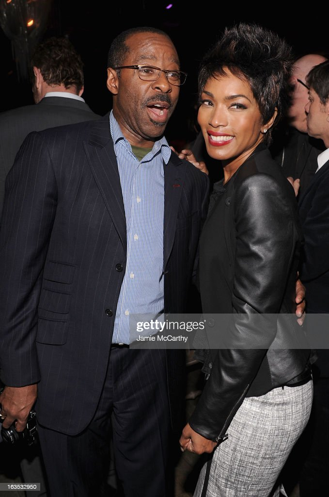 Courtney B. Vance and Angela Bassett attend the after party for The Cinema Society with Roger Dubuis and Grey Goose screening of FilmDistrict's 'Olympus Has Fallen' at The Darby on March 11, 2013 in New York City.