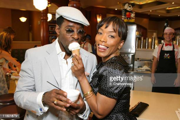 Courtney B Vance and Angela Bassett during The World Premiere of Walt Disney Pictures' 'Meet The Robinsons' at El Capitan Theatre in Los Angeles CA...