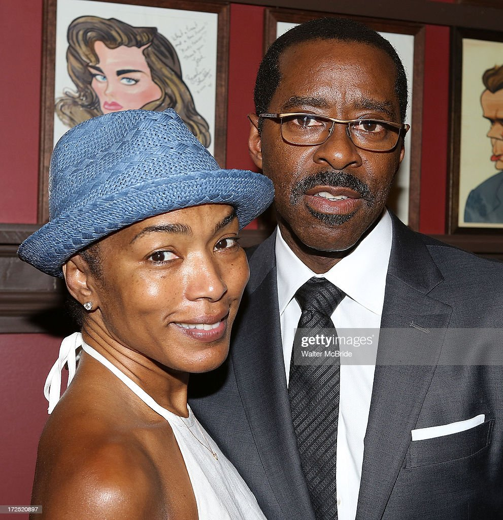 <a gi-track='captionPersonalityLinkClicked' href=/galleries/search?phrase=Courtney+B.+Vance&family=editorial&specificpeople=224059 ng-click='$event.stopPropagation()'>Courtney B. Vance</a>' and wife <a gi-track='captionPersonalityLinkClicked' href=/galleries/search?phrase=Angela+Bassett&family=editorial&specificpeople=171174 ng-click='$event.stopPropagation()'>Angela Bassett</a> attend Vance's caricature unveiling at Sardi's on July 2, 2013 in New York City.