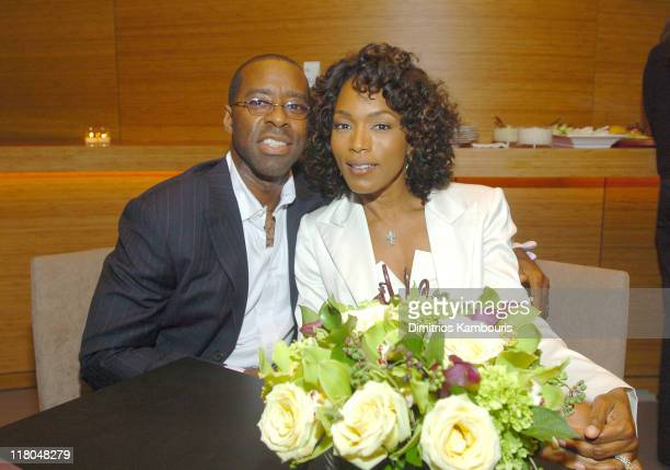 Courtney B Vance and wife Angela Bassett during Conde Nast Traveler 17th Annual Readers Choice Awards Green Room in New York City New York