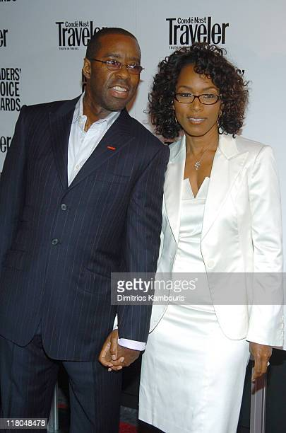 Courtney B Vance and wife Angela Bassett during Conde Nast Traveler 17th Annual Readers Choice Awards at Jazz Lincoln Center Time Warner Center in...