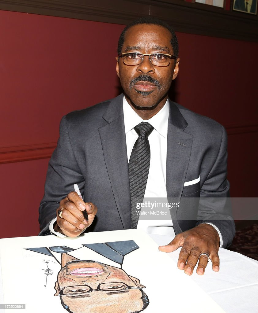 <a gi-track='captionPersonalityLinkClicked' href=/galleries/search?phrase=Courtney+B.+Vance&family=editorial&specificpeople=224059 ng-click='$event.stopPropagation()'>Courtney B. Vance</a> attends his caricature unveiling at Sardi's on July 2, 2013 in New York City.
