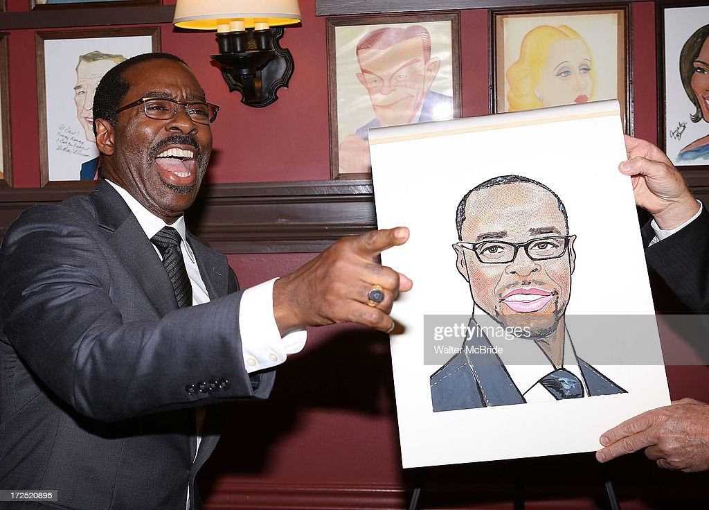 Courtney B. Vance attends his caricature unveiling at Sardi's on July 2, 2013 in New York City.