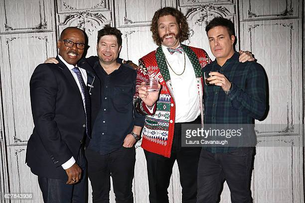 Courtney B Vance Josh Gordon TJ Miller and Will Speck attend Build Presents to discuss 'Office Christmas Party' at AOL HQ on December 5 2016 in New...