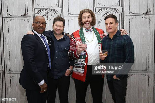Courtney B Vance Josh Gordon TJ Miller and Will Speck attends Build Presents 'Office Christmas Party' at AOL HQ on December 5 2016 in New York City