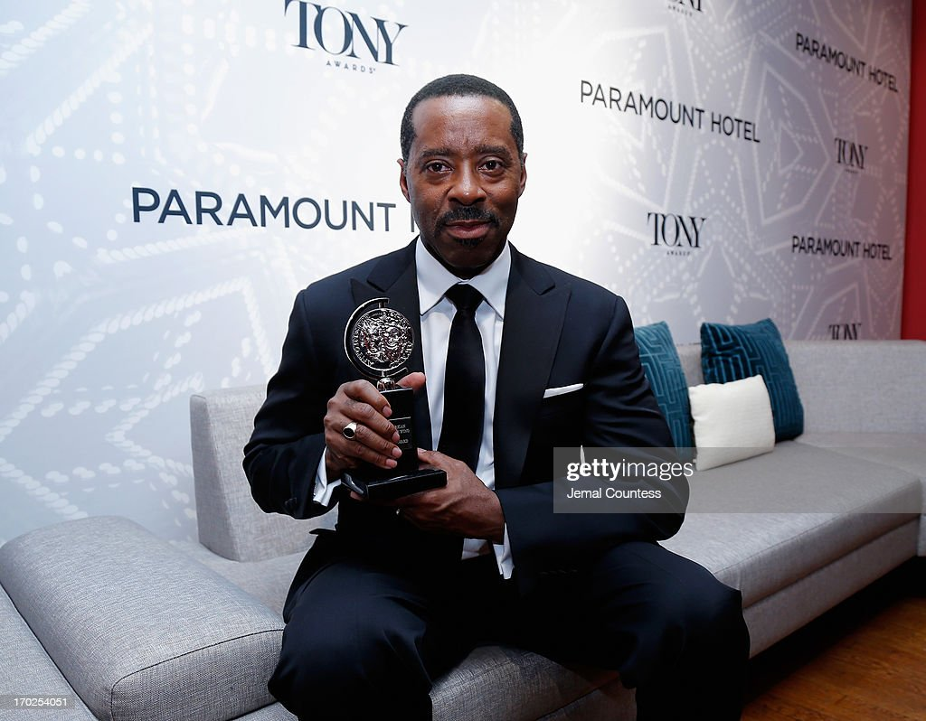 Courtney B. Vance poses with the award for Best Performance by a Featured Actor in a Play for 'Lucky Guy' attends The 67th Annual Tony Awards Paramount Winners' Room at Radio City Music Hall on June 9, 2013 in New York City.