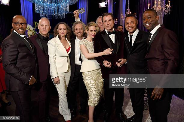 Courtney B Vance Ryan Murphy Nina Jacobson Scott Alexander Sarah Paulson Larry Karaszewski John Travolta Cuba Gooding Jr and Sterling K Brown attend...