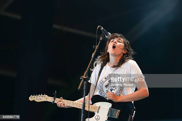 Courtney Barnett performs on NOS stage during NOS Alive '16 Day 2 at Passeio Martimo De Alge on July 8 2016 in Lisbon Portugal