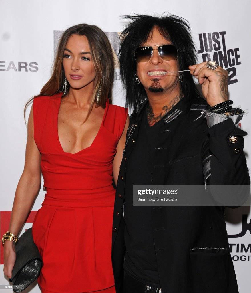 Courtney Bingham and Nikki Sixx arrive at the 2011 EMI Grammys After Party held at Milk Studios on February 13 2011 in Hollywood California