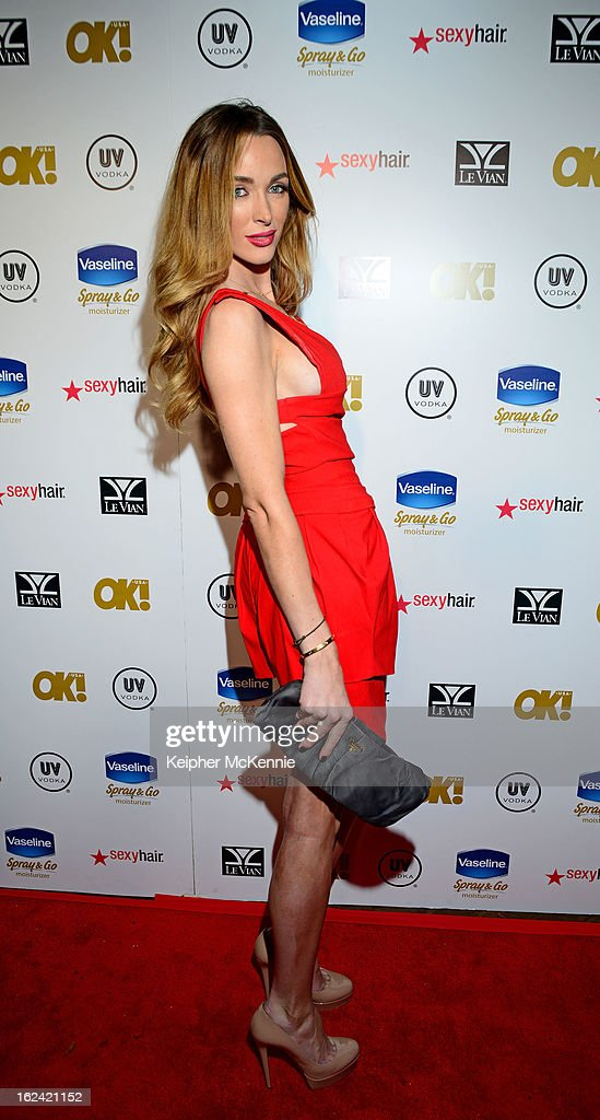 Courtney Bingham steps on the red carpet at OK! Magazine Pre-Oscar Party at The Emerson Theatre on February 22, 2013 in Hollywood, California.