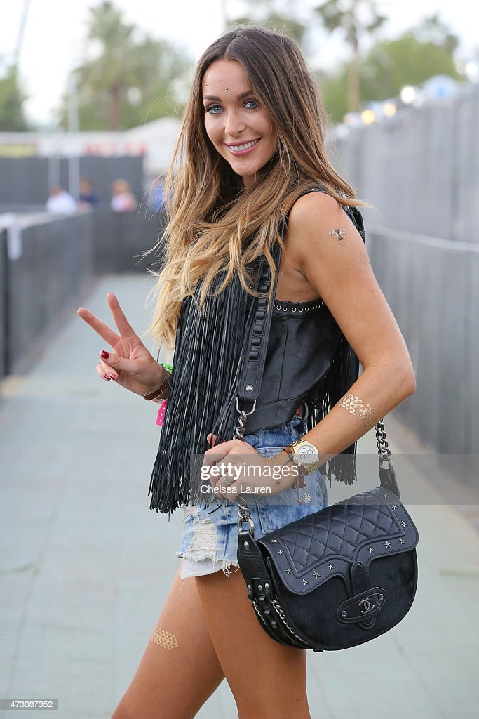 Courtney Bingham-Sixx is seen at the Stagecoach Country music festival at The Empire Polo Club on April 25, 2015 in Indio, California.