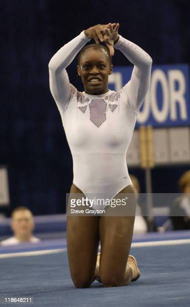 Courtney Bumpers of North Carolina in action at the 2004 NCAA Championship Individual Finals at Pauley Pavilion in Westwood California April 17