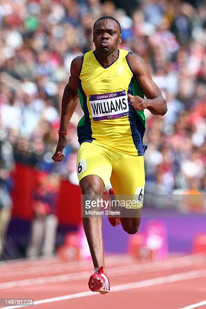 Courtney Carl Williams of St Vincent and the Grenadines competes in the Men's 100m Preliminary Round Heats on Day 8 of the London 2012 Olympic Games...