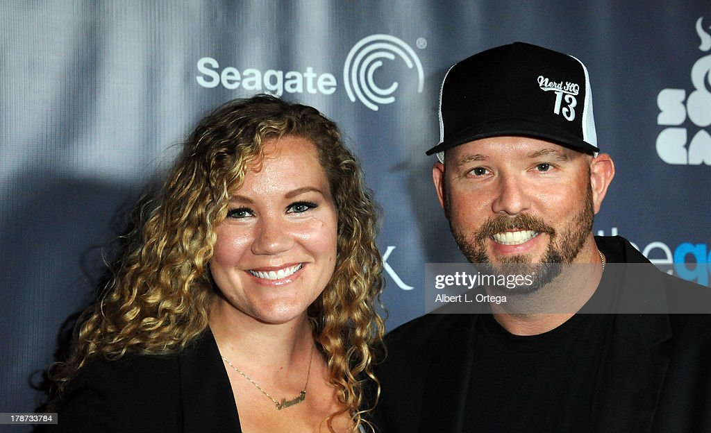 Courtney Coleman and David Coleman attend The 1st Annual Geekie Awards held at Avalon on August 18, 2013 in Hollywood, California.