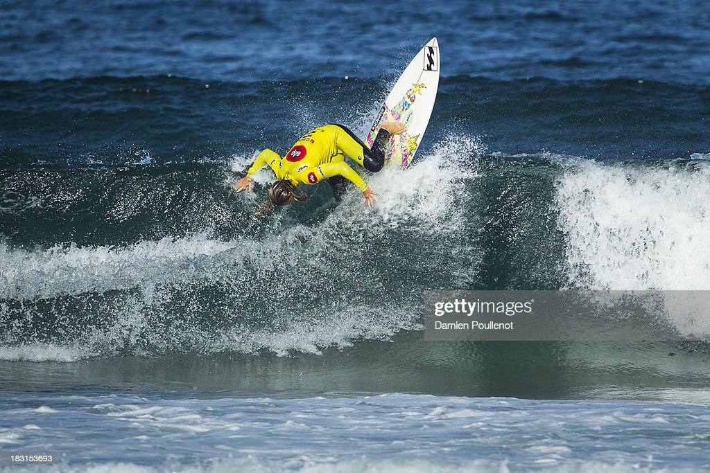 Courtney Conlogue from USA was defeated by Sage Erickson in the quarter final at EDP Girls Pro on October 5, 2013 in Cascais, Portugal.