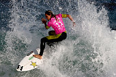 Courtney Conlogue of Australia surfs during Round 1 Heats at the Oi Rio Pro on May 12 2015 in Rio de Janeiro Brazil