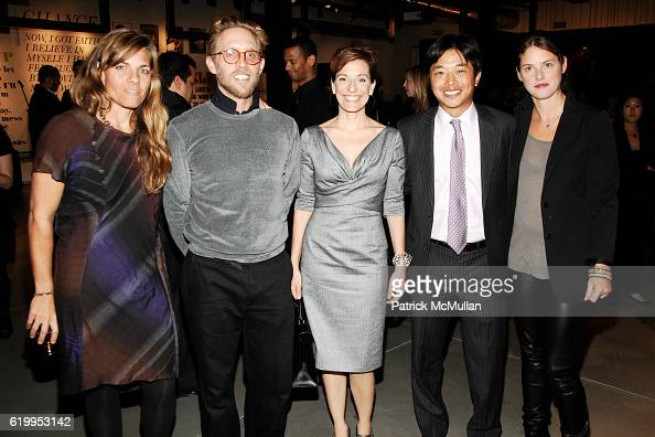 Courtney Crangi Philip Crangi Jaqui Lividini Ken Natori and Leanne Fremar attend WYCLEF JEAN hosts PHOENIX HOUSE Book Launch with THEORY at Theory...