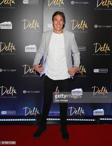 Courtney Dober poses at the launch of Delta by Delta Goodrem on April 20 2017 in Sydney Australia