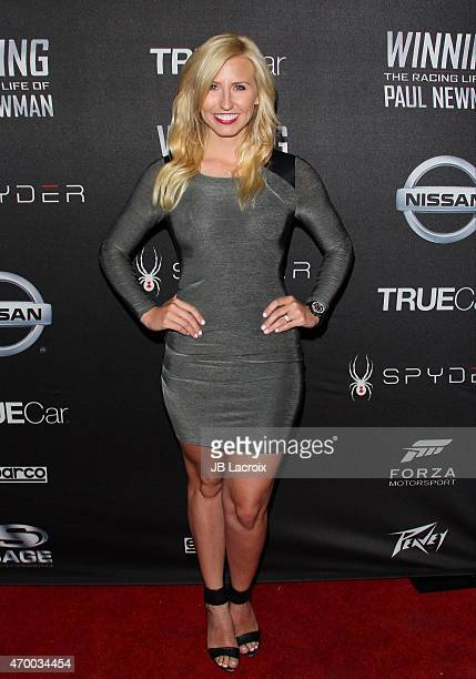 Courtney Force attends a charity screening of the film 'WINNING The Racing Life Of Paul Newman' at the El Capitan Theatre on April 16 2015 in...
