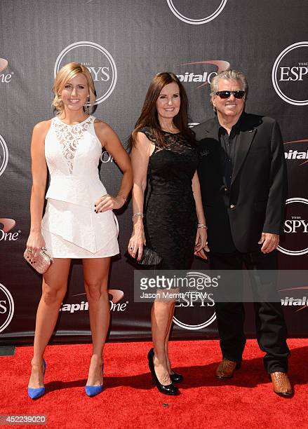 Courtney Force Laurie Force and John Force attend The 2014 ESPYS at Nokia Theatre LA Live on July 16 2014 in Los Angeles California