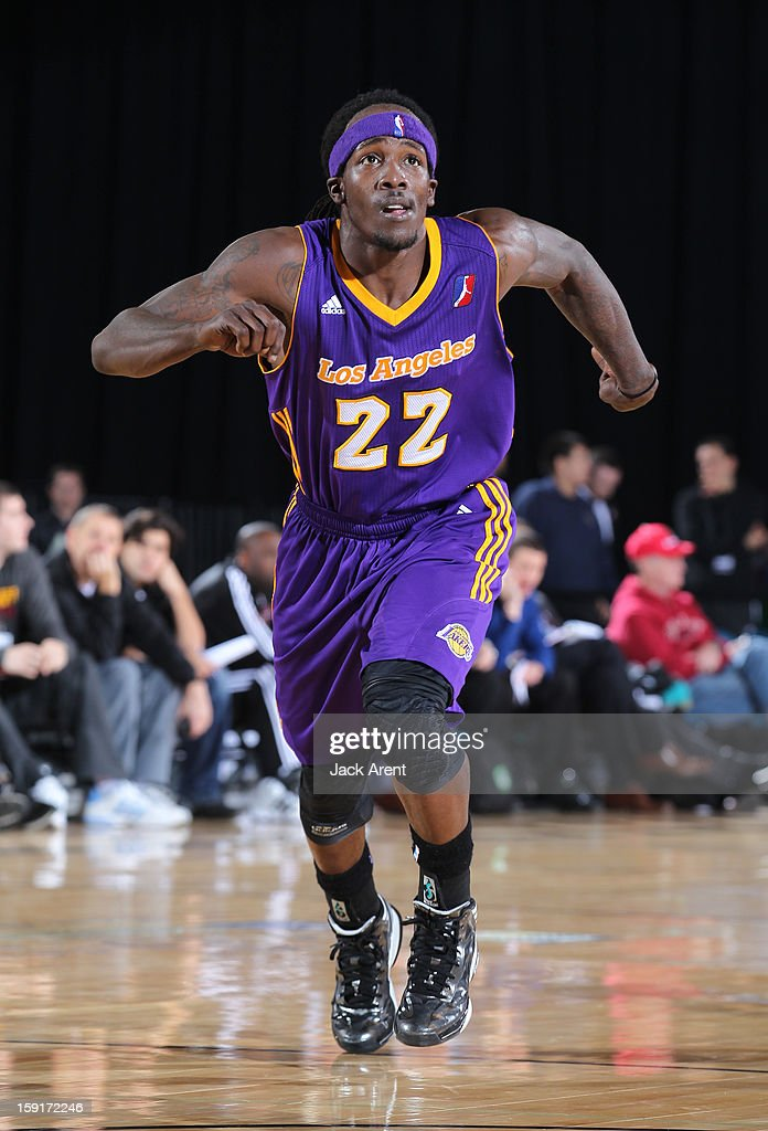 Courtney Fortson #22 of the Los Angeles D-Fenders runs to rebound the ball against the Iowa Energy during the 2013 NBA D-League Showcase on January 8, 2013 at the Reno Events Center in Reno, Nevada.