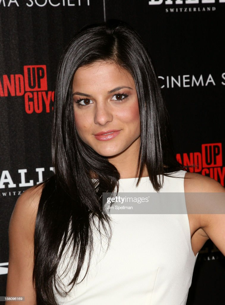 Courtney Galiano attends The Cinema Society With Chrysler & Bally premiere of 'Stand Up Guys' at Museum of Modern Art on December 9, 2012 in New York City.