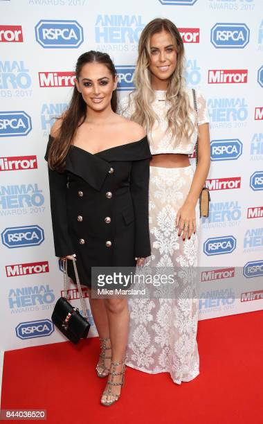 Courtney Green and Chloe Meadows attend the Animal Hero Awards 2017 at The Grosvenor House Hotel on September 7 2017 in London England