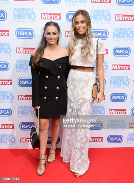 Courtney Green and Chloe Meadows attending The Animal Hero Awards held at Grosvenor House Hotel London