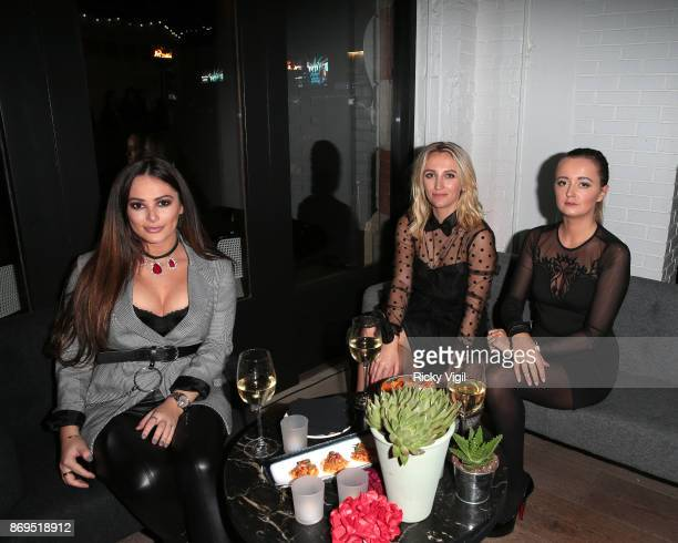 Courtney Green and Tiffany Watson attend the 'Day Of The Dead' party at Leicester Square Kitchen on November 2 2017 in London England